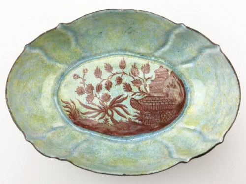 Enamelled dish. Germany, c.1870. - Objects of Vertu Style