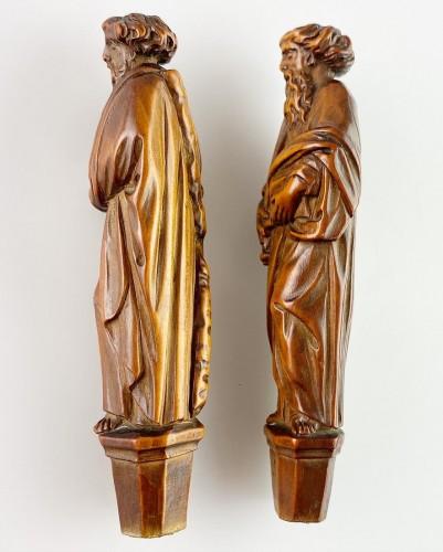 Boxwood knife handles. Flemish, second half of the 17th century. -