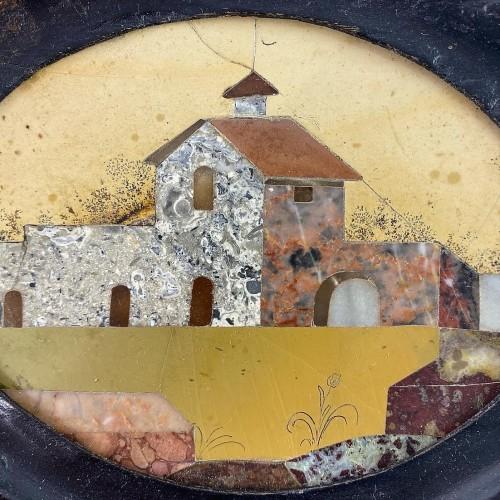 Decorative Objects  - Framed pietra dura house plaque. Italian, late 17th century