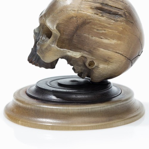 - Important horn carving of a skull. German, mid 17th century.