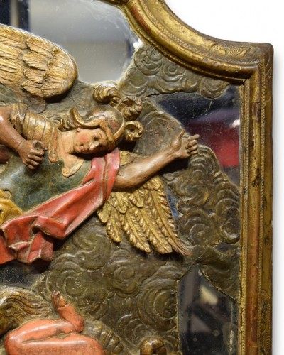 - Pair of wooden reliefs of Saint Michael & Lawrence. Spain17th century