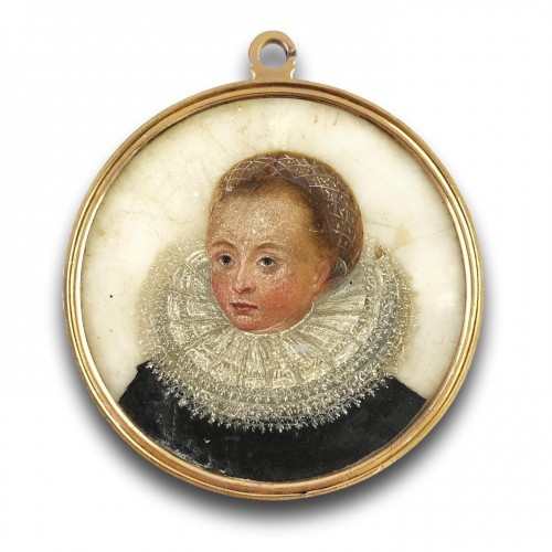 Double sided portrait miniature on alabaster. Northern Europe, 17th century - Objects of Vertu Style