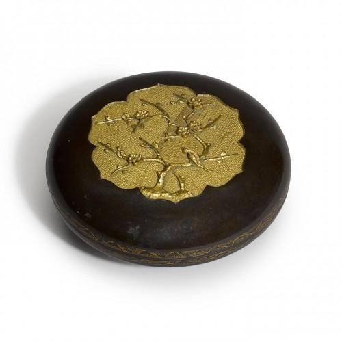 Edo period Sawasa ware box. Japan, early 18th century. - Asian Works of Art Style