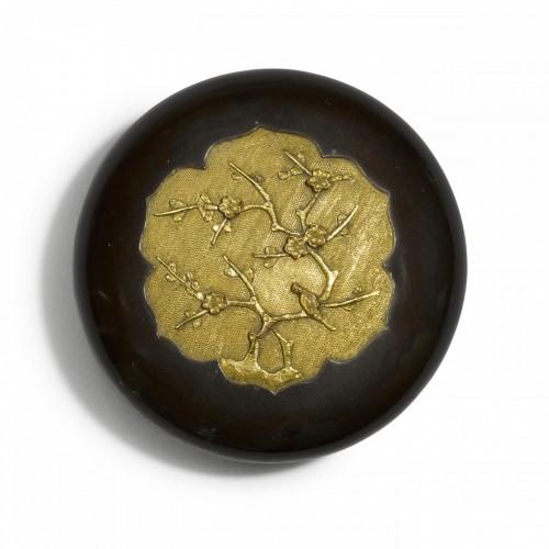 Edo period Sawasa ware box. Japan, early 18th century. -
