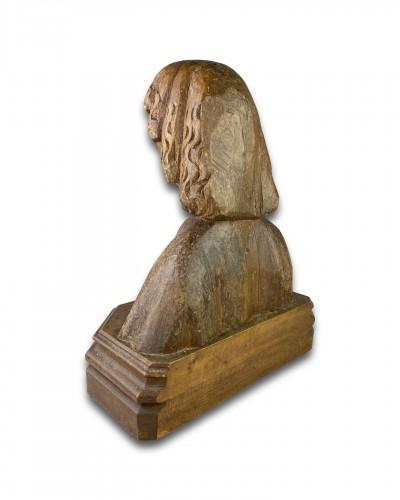 Sculpture  - Oak bust of Saint John the Evangelist. French, 15th century.