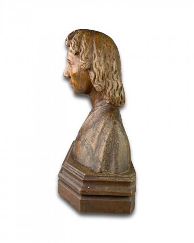 - Oak bust of Saint John the Evangelist. French, 15th century.