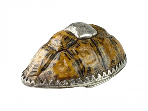 Silver mounted star tortoise snuff box, early 18th century
