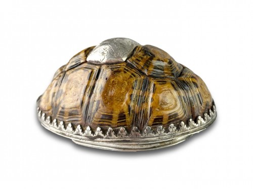 - Silver mounted star tortoise snuff box, early 18th century