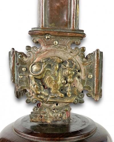 Renaissance gilt copper processional cross. Italian, 15th - 16th centuries. -