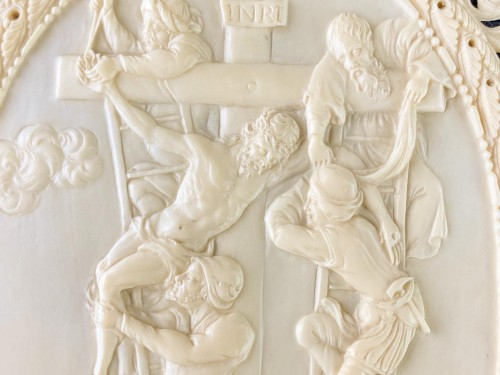 Religious Antiques  - Ivory reliefs showing scenes from the life of Christ. French, 18th/19th cen