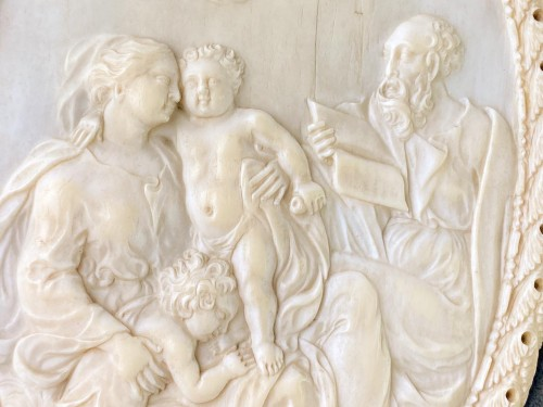 Ivory reliefs showing scenes from the life of Christ. French, 18th/19th cen -
