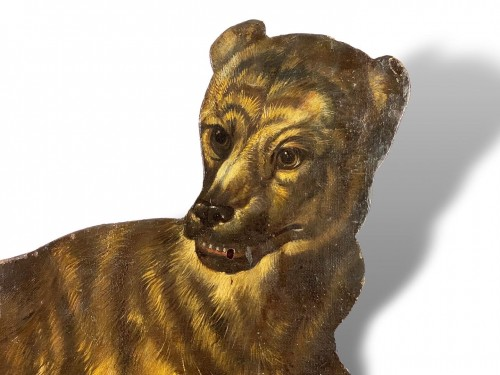 - Dummy board in the form of a recumbent dog. Italian, late 17th century.