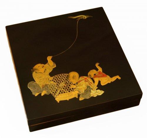 Suzuribako - writing box Japanese lacquer - XVIIIth century