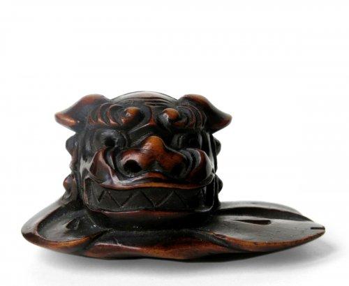 Netsuke Shishimai Mask, Japan Edo 19th century