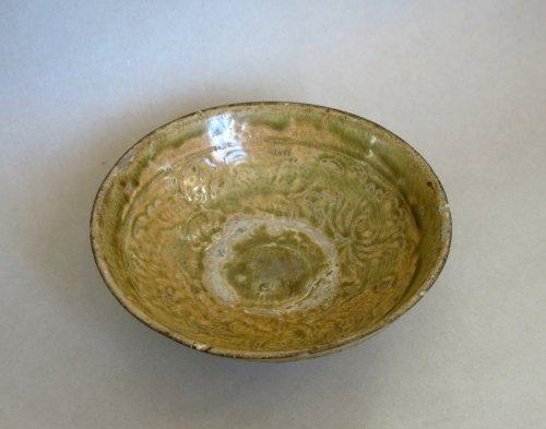 Antiquités - Enamelled stoneware cup - Tanhoa Vietnam XIIIth century