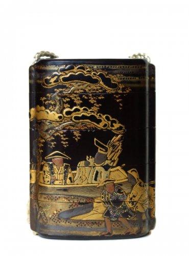 Inro Japanese urushi lacquer, Japan EDO