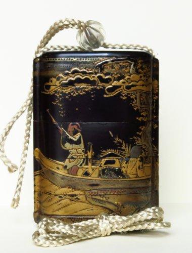 Inro Japanese urushi lacquer, Japan EDO -