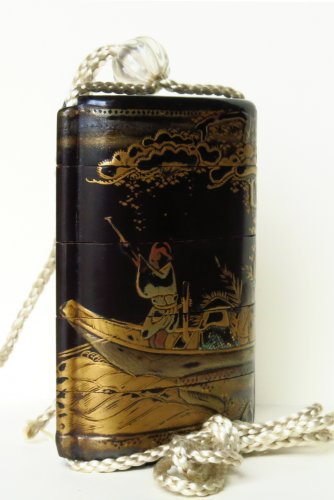 17th century - Inro Japanese urushi lacquer, Japan EDO