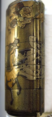 Asian Art & Antiques  - Inro – Ibaraki-d?ji & Watanabe No tsuna.  Japan Edo 17th century