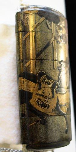 Inro – Ibaraki-d?ji & Watanabe No tsuna.  Japan Edo 17th century -