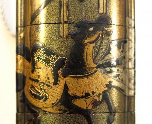 17th century - Inro – Ibaraki-d?ji & Watanabe No tsuna.  Japan Edo 17th century