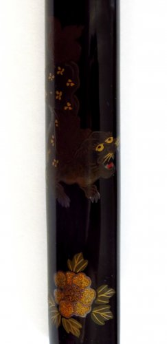 19th century - A japanese lacquer Pipecase, Japan Edo, 19th century