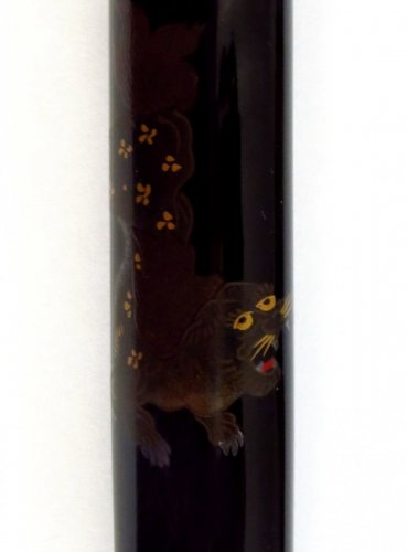 A japanese lacquer Pipecase, Japan Edo, 19th century -
