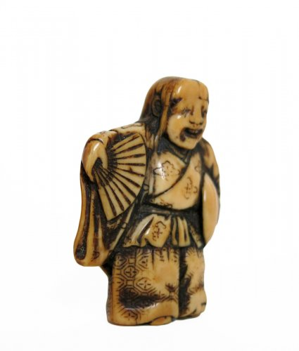 Netsuke Shojo dance - Japan Edo 18th century