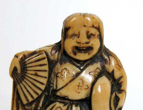 Asian Art & Antiques  - Netsuke Shojo dance - Japan Edo 18th century