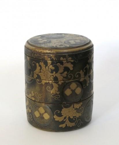 - Lacquer Box Japanese gold lacquer Ju-Kôgô -18th century