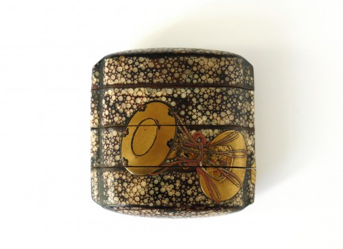 Unusual Inro of shagreen and Japanese urushi lacquer. Japan Edo - Asian Art & Antiques Style