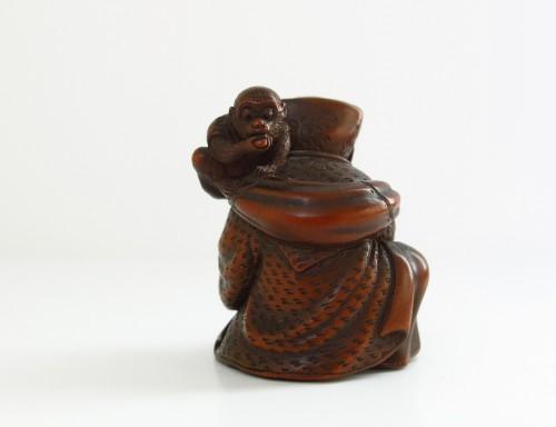 Asian Art & Antiques  - Netsuke By Shuosai. Sarumawashi, Japan Edo 19th centuy