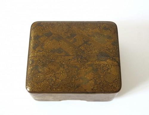 Antiquités - Kobako Small japanese urushi gold lacquer box. Japan Edo