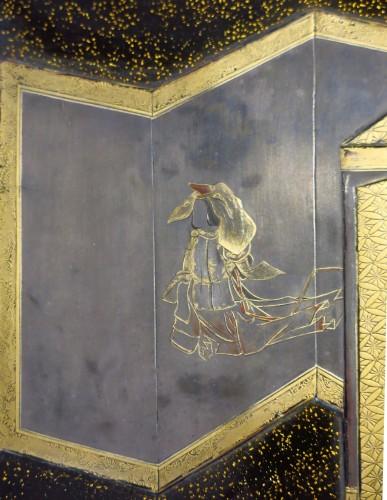 18th century - Suzuribako Japanese screen Shirabyoshi dancer. Jacques Doucet. Japon 18th