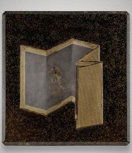 Antiquités - Suzuribako Japanese screen Shirabyoshi dancer. Jacques Doucet. Japon 18th