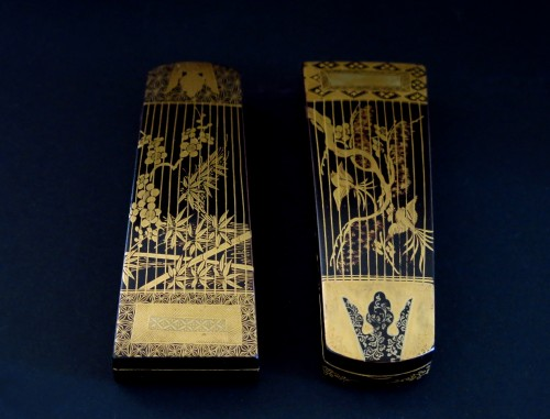 Kôgô - Two small urushi lacquer traditional instruments boxes, Japan Edo - Asian Art & Antiques Style