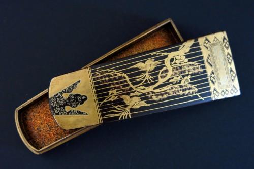 Asian Art & Antiques  - Kôgô Two small urushi lacquer Koto boxes, Japan Edo