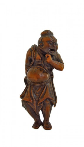 Netsuke – A Nio, the temple guardian. Japan Edo