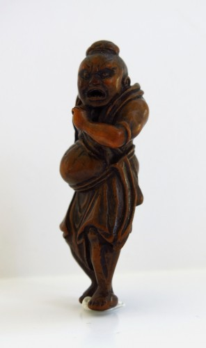 Asian Art & Antiques  - Netsuke – A Nio, the temple guardian. Japan Edo