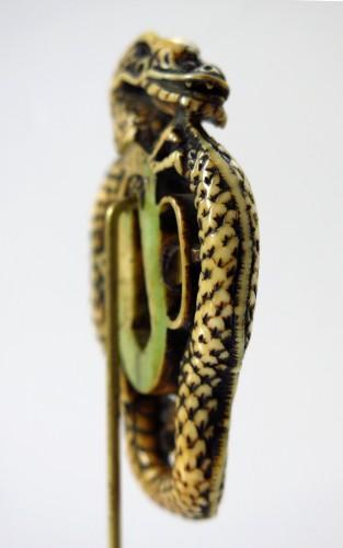 Asian Art & Antiques  - Rare and powerful representation of a dragon Tsuba. Japan Edo
