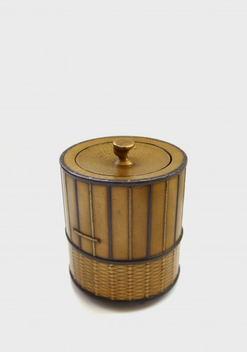 Takigara-Ire  Unusual japanese urushi lacquer box of a cage. Japan Edo - Asian Art & Antiques Style