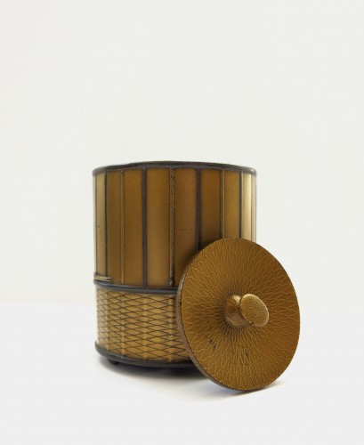 Asian Art & Antiques  - Takigara-Ire  Unusual japanese urushi lacquer box of a cage. Japan Edo