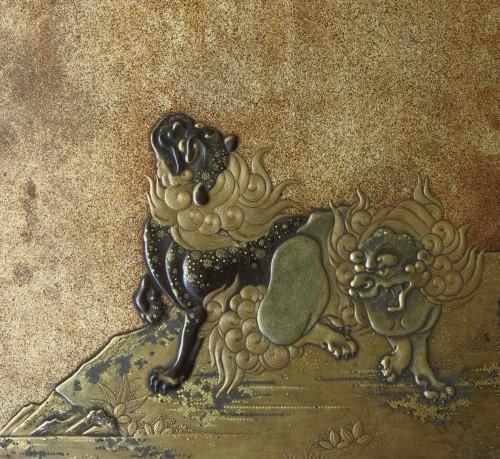 18th century - Suzuribako. Japanese urushi lacquer box. Japan, Edo 18th century