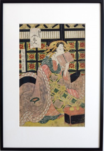 Eizan Kikugawa PRINT series of five courtesans Japan Edo