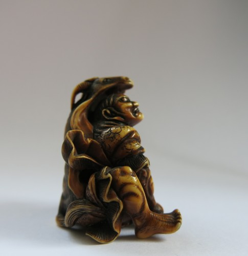 19th century - Netsuke Very fine and unusual model of Kidomaru. Japan Edo