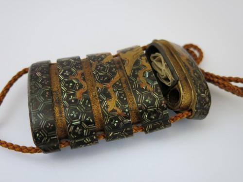 A rare Yatate shaped Inro, Japan Edo - Asian Art & Antiques Style