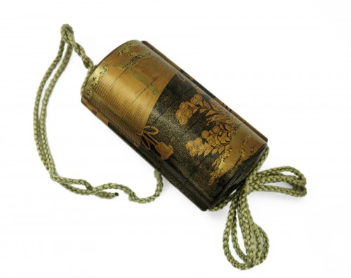 Gold lacquer of Sudare Inro, Japan Edo