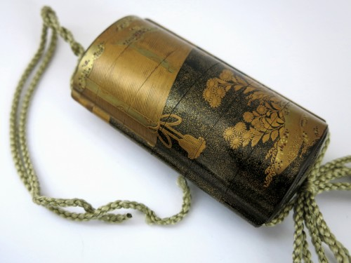 Gold lacquer of Sudare Inro, Japan Edo - Asian Art & Antiques Style