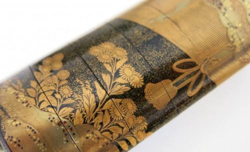 Gold lacquer of Sudare Inro, Japan Edo -