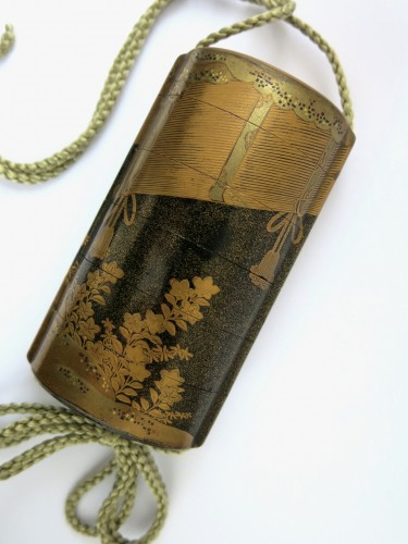 18th century - Gold lacquer of Sudare Inro, Japan Edo